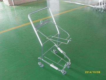 ประเทศจีน Four Wheeled Shopping Trolley / Shopping Basket Trolley 50KGS capacity โรงงาน